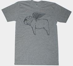 Flying Bulldog tee by MisNopalesArt on Etsy. Perfect.