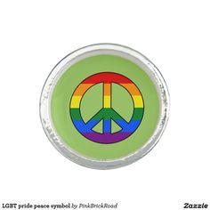 LGBT pride peace symbol Photo Ring
