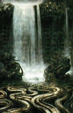 H.R. Giger Hr Giger Art, Alien Art, Kinder Art, Science Fiction, Fantasy Art, Fantasy Landscape, Printer, Xenomorph, Giger Alien
