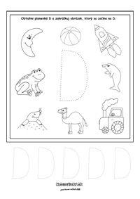 Písmenká - séria pracovných listov - Nasedeticky.sk Montessori, Math Equations, Alphabet