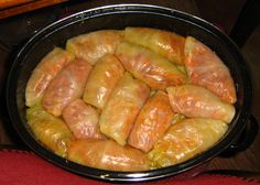 What You'll Need one large head cabbage one can ounces) tomato sauce one egg, lightly beaten one ounce onion sou. Side Recipes, Pork Recipes, Slow Cooker Recipes, Crockpot Recipes, Real Food Recipes, Cooking Recipes, Recipies, Cooking Rice, Fast Recipes