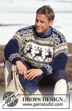 мужской свитер, мужской пуловер, мужской пуловер с оленями, свитер с норвежским узором, жаккардовые узоры, норвежские узоры, свитер, вязание для женщин, свитер женский, вязание спицами, вязание для женщин, носки, идеи для подарков, идеи для подарков к Рождеству, Drops