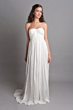 habotaiból készült esküvői ruha