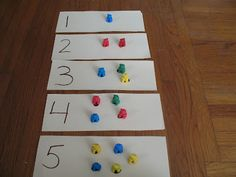 Teddy Bear Counters  and all you can do with them!  Colors, counting, matching, sequencing, sorting. Great post.