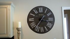 DIY Hand Painted Antique Wall Clock | Shelterness