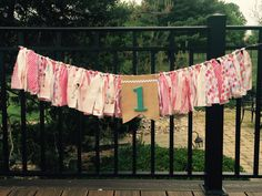 Vintage birthday girl fabric banner garland high chair bunting by Pattycakespapers on Etsy