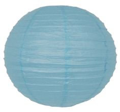 "10"" Cotton Blue Paper Lantern"