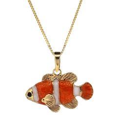 Clownfish Pendant or charm , no clowning around, we love this #fish #justkeepswimming