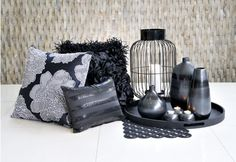 Black accessories Find Furniture, Decorative Accessories, Throw Pillows, Bedroom, Christmas, Beautiful, Black, Home, Xmas