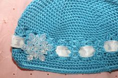 Blue Snowflake Hat by FunkyBsDesigns on Etsy