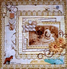 Romy Veul designed this gorgeous layout using the new Woodland Winters collection. Love all her layers and her adorable photo! #BoBunny, @Romy Veul