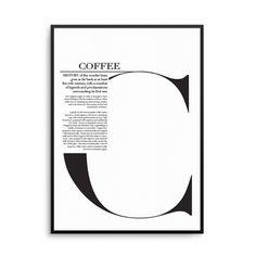 Olive et Oriel - Coffee Print