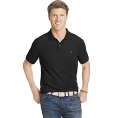Big & Tall IZOD Advantage Classic-Fit Performance Polo, Men's, Size: Xl Tall, Black
