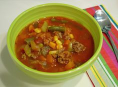 I have made this Spicy Beef Vegetable Soup sooooo many times. Too many to count in fact. At one point I would make it just about once a week...