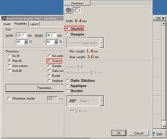Embird Tutorial - Font Engine Plug-in - Parameters of Text