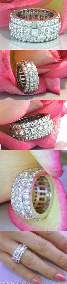 Bague Diamant  Tendance 2017/2018  : High-end Diamond Eternity Ring 879 ct. G-SI  Visit: schmucktraeume.com  Like