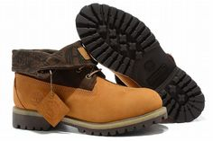 Timberland Roll Top Boots Wheat Brown Mens-#27092-660
