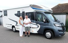Peter & Helen from Herne Bay are pictured taking delivery of their new CHAUSSON 717 GA Welcome motorhome, from Shane Catterick at TC Motorhome Motorhome, Recreational Vehicles, Delivery, Rv, Camper Tops, Truck Camper, Mobile Homes, Rv Camping