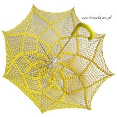 Sale 10 BUCKS OFF, Sunny Yellow crochet parasol, for modern lady or... ❤ liked on Polyvore featuring umbrellas