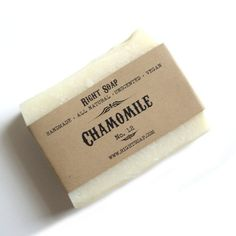 Relaxing chamomile soap.