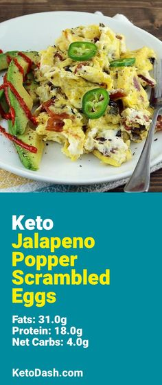 Trying this Jalapeno Popper Scrambled Eggs and it is delicious. What a great keto recipe. For Christopher