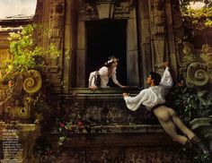 Roberto Bolle and Coco Rocha as Romeo and Juliet. Photographed by Annie Leibovitz