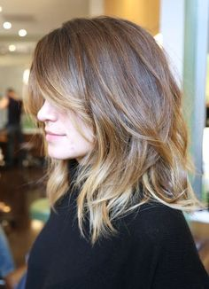 #midlength #hair Haircut for shoulder lenght hair. Layers. Straight hair.