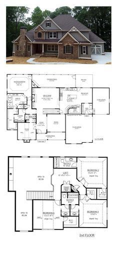 French Country House Plan 50263 | Total Living Area: 3290 sq. ft., 4 bedrooms and 4 bathrooms. #frenchcountry
