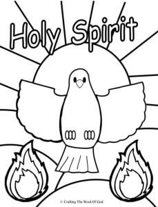 pentecost flame coloring page