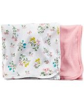 Carter's Baby Girls' 2-Pack Swaddle Blankets