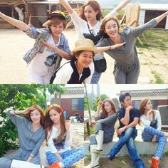 Hyomin takes pictures with 'Invincible Youth' members #allkpop #kpop #TARA