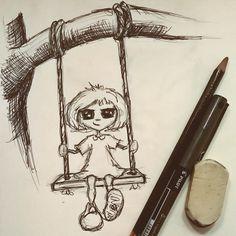 Cheeky little Mischief. Pen doodle