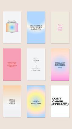 Graphisches Design, Layout Design, Graphic Design Posters, Graphic Design Inspiration, Instagram Design, Instagram Gradient, Bussiness Card, Quote Template, Instagram Quotes