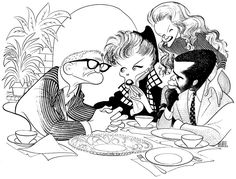 Guess Who's Coming To Dinner by Al Hirschfeld