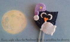 Sleepy Owl bookmark - Felt bookmark - Owl paper clip - Planner accessories - Segnalibro con Gufo Blu - Graffetta - Planner clip - Regalo per lettori - di TinyFeltHeart su Etsy