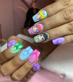 Acrylic Nails Coffin Short, Simple Acrylic Nails, Best Acrylic Nails, Summer Acrylic Nails, Summer Nails, Nail Swag, Glow Nails, Cute Acrylic Nail Designs, Fire Nails