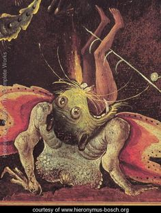 The Last Judgement (detail of a man being eaten by a monster) c.1504 - Hieronymous Bosch - www.hieronymus-bosch.org
