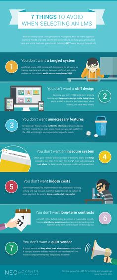What to Avoid When Selecting an LMS Infographic - http://elearninginfographics.com/things-avoid-selecting-lms-infographic/
