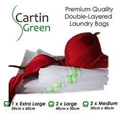 2-Layer Laundry Mesh Bags, Set of 5 (1XL, 2L, 2M), Protect Stockings, Socks, Scarves, Ties, Underwear, Bra, Lingerie, Babies Clothes & Delicate Fabrics in the Washer. Guard your Finest Garments Now! Cartin Green http://www.amazon.com/dp/B016SBR8HW/ref=cm_sw_r_pi_dp_MtFuwb1VY6MRX