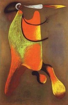 """Hombre con una Pipa"", dibujo de Joan Miro (1893-1983, Spain)"