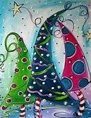 christmas canvas - Bing Images