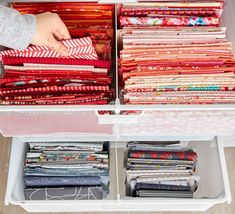 No matter what your definition of organization, here are some tips for sorting and storing your fabric stash. Quilt Storage, Fabric Storage, Bag Storage, Quilting Room, Quilting Tips, Creative Closets, Fat Quarter Quilt, Hanging Fabric, Sewing Room Organization