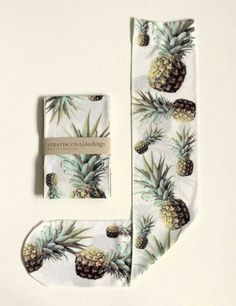 Strathcona White Pineapple Socks @ Dagmar Rousset Melbourne $39AU