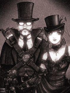 olde adventurers by SpaceCaptSteve.. #steampunk #victorian #Art #gosstudio .★ We recommend Gift Shop: http://www.zazzle.com/vintagestylestudio ★