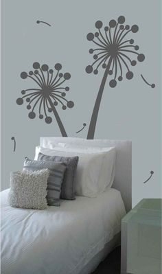 Flower Tree Wall Decal Dandelion Vinyl Wall Decal By Cuma On Etsy - How to make large vinyl wall decals with cricut