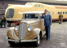 1936 Willys 77 Sedan and the City of San Francisco Streamliner.