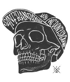 San Franpsycho s/s14 on Behance by Kevin Espeche #skull #illustration #type