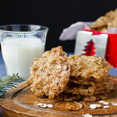 A sweet n' salty, crispy, chewy, oatmeal, coconut and almond cookie with no flour or butter! Absolutely addictive.