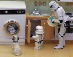Saturday chores, Lego-wars