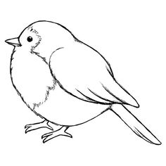 Magenta a Tiny Bird Cling Rubber Stamp Outline Drawings, Bird Drawings, Cartoon Bird Drawing, Bird Outline Tattoo, Outline Images, Drawing Cartoons, Cartoon Birds, Bird Embroidery, Embroidery Patterns